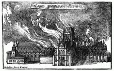 Old St. Paul's Cathedral in flames/Wenceslaus Hollar (1607–1677) TitleOld St. Paul's Cathedral in Flames Date17th century Mediumdrawing - Project Gutenberg