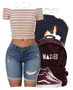 """""""10.30"""" by trinityannetrinity ❤ liked on Polyvore featuring Linda Farrow, Miss Selfridge and Vans"""