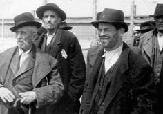 Birkenau, Poland, Men pronounced unfit for labor waiting to be exterminated, 27/05/1944.
