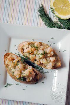 Kuchnia Bazylii: Grzanki z krewetkami