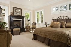 Bedroom Photos Beige Walls Design Ideas, Pictures, Remodel, and Decor - master bedroom idea