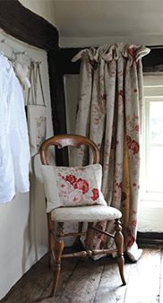 Rooms with a View - kate forman rose fabric - I have this made into floor length curtains in my living room <3