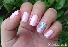#Nails #lightpink #shortnails #unhas
