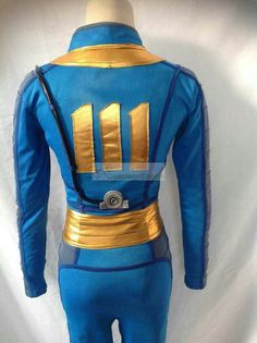 Custom Cheap Fallout 4 Sole Survivor Vault 111 Jumpsuit Cosplay Costume In Fallout 4 Sole Survivor For Sale Online- Cosplay-Shops.com