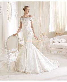 Elegante kurze-Ärmel Hochzeitskleider aus Spitze 2014 | La Sposa