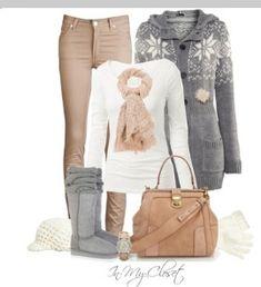 Outfit casual diurno invierno.