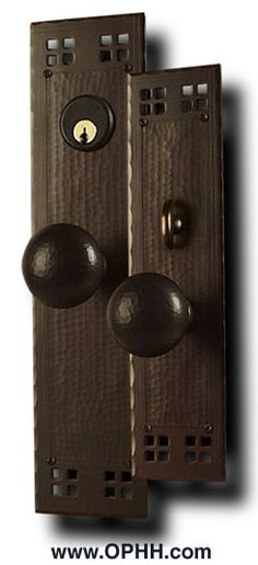 craftsmen hardware entry set | Arroyo Craftsman Lighting. Mission Lamps. Craftsman Style Hardware ...