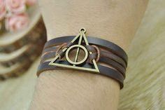 Deathly Hallows Leather Cuff, $5.99 | 56 Totally Wearable Harry Potter-Themed Accessories