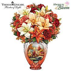 Thomas Kinkade Amber Elegance Illuminated Table Centerpiece
