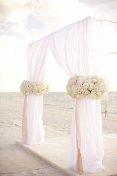Incredible beach wedding ceremony setup #beachwedding