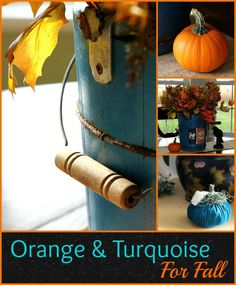 Orange and turquoise are a perfect color combo for fall.  I mean, Howard Johnson's made it work for all those years, so why not!