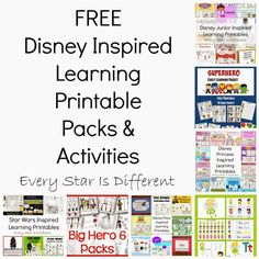 Every Star Is Different: FREE Disney Inspired Learning Printable Packs & Activities (KLP Linky)