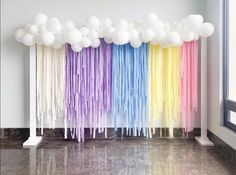35 ideas children party themes balloons for 2019 Rainbow Birthday Party, 18th Birthday Party, Unicorn Birthday Parties, Birthday Party Decorations, Children Birthday Party Ideas, Pastel Party Decorations, Baby First Birthday Themes, Streamer Decorations, Childrens Party