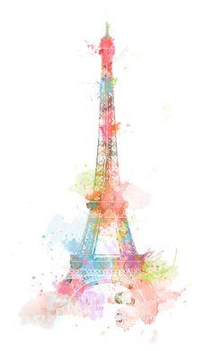 Eiffel Tower Illustration Paris France Watercolor ★ Find more vintage wallpapers for your + Cute Wallpapers, Wallpaper Backgrounds, Paris Wallpaper Iphone, Iphone Wallpapers, Wallpaper Color, Paint Wallpaper, Vintage Wallpapers, Tumblr Backgrounds, Wallpaper Desktop