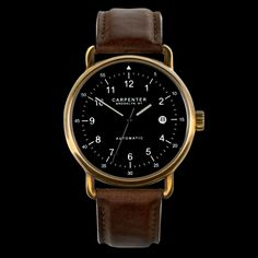 A new watch brand from the one of the most famous of the five boroughs. Carpenter Watches