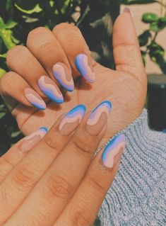 Acrylic Nails Coffin Short, Simple Acrylic Nails, Summer Acrylic Nails, Best Acrylic Nails, Simple Nails, Acrylic Nails Designs Short, Pastel Nails, Summer Nails, Edgy Nails