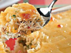 Arroz de forno com frango,milho e queijo - Veja mais em: http://www.cybercook.com.br/receita-de-arroz-de-forno-com-frangomilho-e-queijo.html?codigo=14132