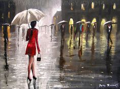 Original acrylic and oil on stretched canvas by international selling British artist Pete Rumney  www.rumneyexclusive.com