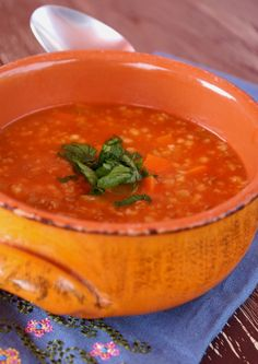 Tarhana soup is a well loved soup in my native Bosnia, as well as in some other countries such as Greece, Turkey, Albania, Bulgaria, Egypt, etc. The noodles are made from sour dough and give a soup...