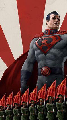 Superman Red Son, Superman Man Of Steel, Batman Vs Superman, Batman Art, Superman Cosplay, Superhero Art Projects, Mark Millar, Cw Dc, Animes Online
