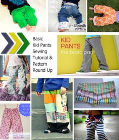 Easiest Baby Pants to Sew, Ever. - The Sewing Rabbit--kids pants sewing project Baby Pants, Kids Pants, Pj Pants, Sewing Tutorials, Sewing Projects, Sewing Patterns, Sewing For Kids, Baby Sewing, Sew Baby