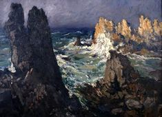 Désiré Lucas Ouessant Region Bretagne, The Gr, Illustrations, Painting Inspiration, Brittany, Marines, Sunny Days, Art History, Photos