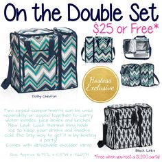 On the Double Set Thirty-One. Host a party to get this exclusive. Click to join my Facebook VIP page and message me to get started on your party.