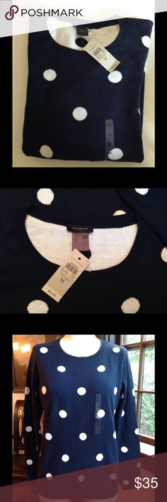 Ann Taylor Sweater - NWT Just in time for fall!  Nice, casual sweater from Ann Taylor.  Dark navy blue in color as shown in the first pic.  Long sleeves, brand new with tags.  Great with jeans. Ann Taylor Sweaters