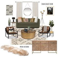Fashion set CABIN GREAT ROOM created via
