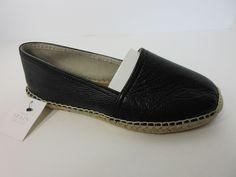 Maypol Anthropologie Womens Black Soft Leather Espadrille Flat Shoes 7.5 M New #Maypol #Espadrilles #Casual
