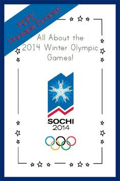 {FREE Printable Booklet} All About the Winter Olympics!