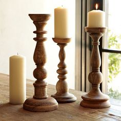 Unique Wooden Candle Holders You Will Love. Candle holders are considered artistic decorative items. From the beginning, this was used to decorate the living room a. Candle Holder Decor, Wooden Candle Holders, Lantern Candle Holders, Candle Stand, Bougie Candle, Wood Turning Projects, Wood Lathe, Into The Woods, Wood Colors