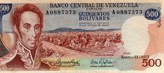 billete 500 bs enero 11 año 1972 guri