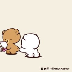 Cute Love Pictures, Cute Cartoon Pictures, Cute Love Gif, Cute Cat Gif, Cute Couple Cartoon, Cute Love Cartoons, Polar Bear Drawing, Cute Bear Drawings, Bear Gif