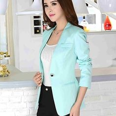 Women'S Long Sleeve Slim Career Blazer - BRL R$ 100,64
