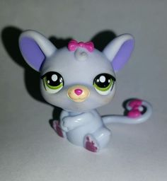 Littlest Pet Shop Purple Mouse Pink Bow Green Eyes #1560 Preowned LPS in Toys & Hobbies, Preschool Toys & Pretend Play, Littlest Pet Shop | eBay