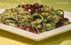 Cuketový šalát Pasta Salad, Sprouts, Food And Drink, Pizza, Chicken, Vegetables, Salads, Crab Pasta Salad, Vegetable Recipes