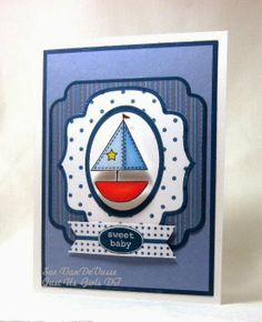 Handmade sailboat baby card created by Sue VanDeVusse. Like the inked die cuts effect to add dimension to the card. #Sailboat, #SailboatCard, #SailboatBabyCard, #HandmadeSailboatCard, #HandmadeSailboatBabyCard, #HandmadeCard, #HomemadeCard, #HandcraftedCard, #Card, #CardIdea, #BabyCard, #NewbornCard, #WelcomeBaby, #HandmadeBabyCard, #HandmadeNewbornCard, #Congrats, #Congratulations, #CongratulationCard, #CardForBaby, #CardForNewborn, #NewBabyCard, #CardForNewBaby, #NewBaby