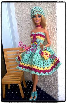 #Camila1000 #Cléa1000 #Crochet #Barbie #Vestido #Dress #Purse #Bolsa #Chapéu #Doll #Muñeca rachelcrochet.wordpress.com #RaquelGaucha