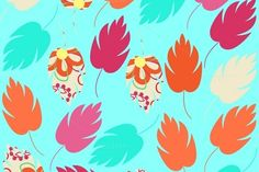 Leaves seamless pattern by LuizaVictorya on Creative Market