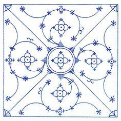 Motiv Indisch Blau