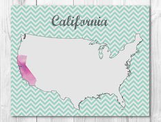 50% OFF SALE California State Art Printable by FunFunPapers