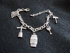 Wine Lover Charm Bracelet by SANDJHOTSHOTS on Etsy