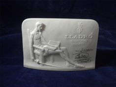 Don Quixote Lladro Collectors Society Bisque Porcelain Plaque  Made In Spain