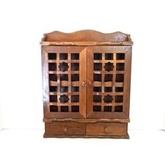 $62 Vintage Spice Cabinet Mid Century Spice Rack Solid Wood Apothecary  Cabinet Kitchen Storage Wall Hanging