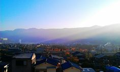 Frosty morning in the 'burbs outside Osaka… and the view from my neighborhood. Gotta love the fall!