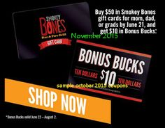 Smokey Bones Coupons Ends of Coupon Promo Codes JUNE 2020 ! But Bones open Bones, in grill Smokey not it good but good one's it who fo. Love Coupons, Shopping Coupons, Grocery Coupons, Smokey Bones, Coupons For Boyfriend, Fire Grill, Coupon Stockpile, Free Printable Coupons, Extreme Couponing