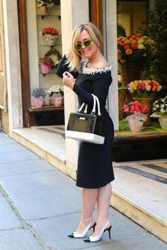 Fashion Blogger Carolina Ogliaro wearing Chiara Bellini!