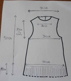 Marga's Little Things: How to make an Indian costume for a girl. Easy and economical . Peasant Dress Patterns, Frock Patterns, Baby Girl Dress Patterns, Baby Clothes Patterns, Dress Sewing Patterns, Little Girl Dresses, Clothing Patterns, Baby Frocks Designs, Kids Frocks Design