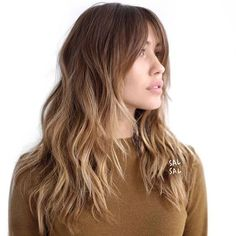 Trendy Haircut Middle Long Bangs - All For Little Girl Hair Haircuts For Wavy Hair, Long Hair Cuts, Cool Hairstyles, Layers For Wavy Hair, Wedding Hairstyles, Long Hair Short Layers, Long Shag Hairstyles, Short Haircuts, Gorgeous Hairstyles
